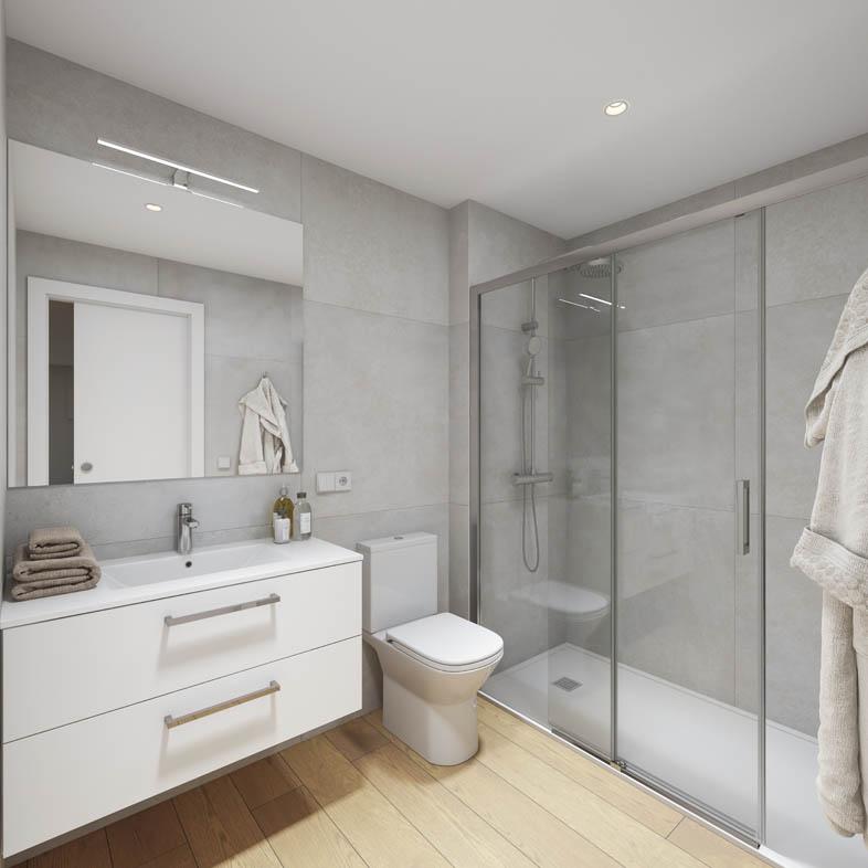 Renders 3D de un piso en Vilanova i la Geltrú
